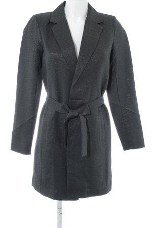 Vila Lange blazer zwart-zilver feest stijl