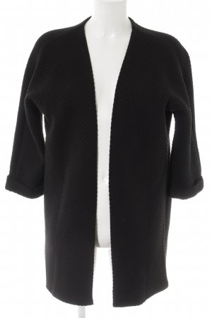 Vila Long Knitted Vest black simple style