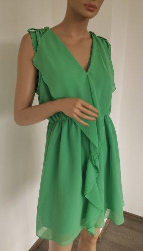 Vila Clothes Robe à volants vert menthe polyester