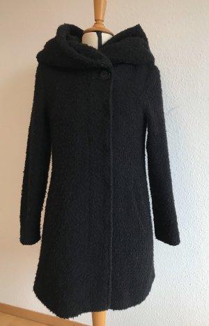 Vila Manteau à capuche noir laine