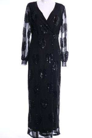 Vila Geklede jurk zwart elegant