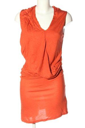 Vila Sukienka midi jasny pomarańczowy W stylu casual