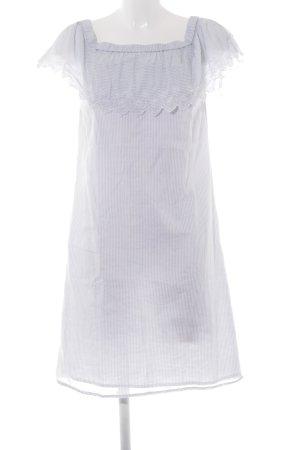 Vila Midi Dress azure-white striped pattern casual look