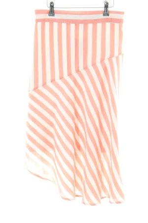 Vila Spódnica midi w kolorze białej wełny-jasny pomarańczowy Wzór w paski