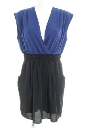 Vila Minikleid schwarz-blau