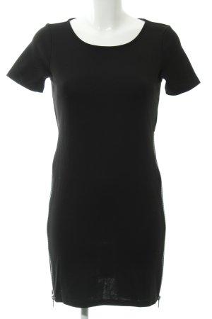 Vila Minikleid schwarz schlichter Stil