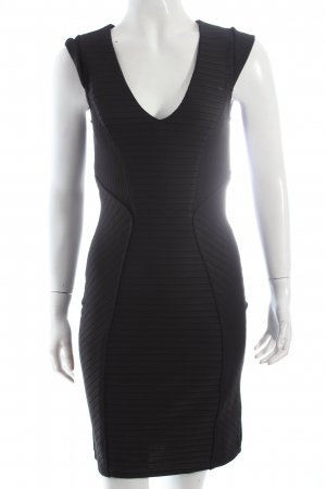 Vila Minikleid schwarz Streifenmuster Elegant