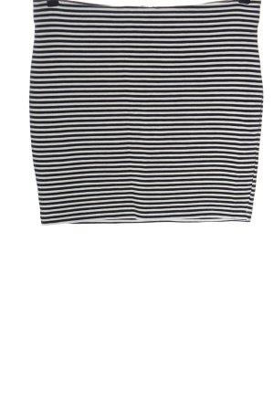 Vila Minirock weiß-schwarz Streifenmuster Elegant