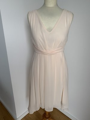 Vila nude/ rose farbenes Chiffon Kleid