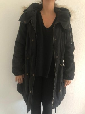 Vila Hooded Coat black