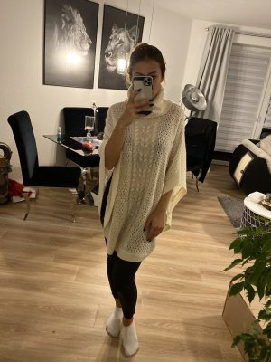 Vila Knitted Poncho cream-natural white