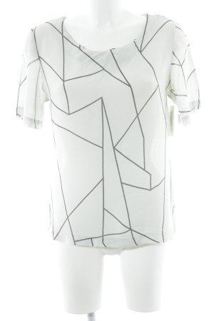 Vila Print-Shirt türkis-schwarz grafisches Muster Casual-Look