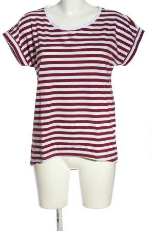 Vila Koszulka w paski czerwony-biały Wzór w paski W stylu casual