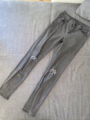 Vila Ripped Jeans Grau Gr. 38