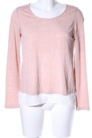Vila Rundhalspullover pink meliert Casual-Look