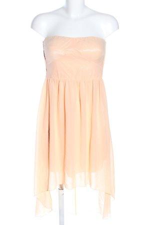 Vila schulterfreies Kleid creme Elegant