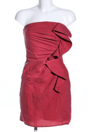 Vila schulterfreies Kleid rot Elegant