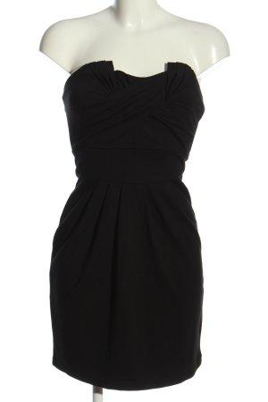 Vila schulterfreies Kleid schwarz Elegant