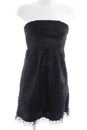 Vila schulterfreies Kleid schwarz Blumenmuster