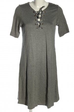 Vila Shirtkleid hellgrau meliert Casual-Look