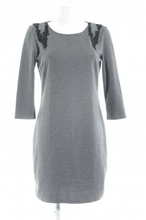 Vila Shirtkleid grau-schwarz klassischer Stil