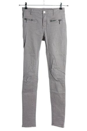 Vila Skinny Jeans hellgrau Casual-Look