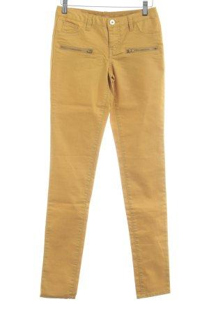Vila Skinny Jeans dunkelgelb Casual-Look