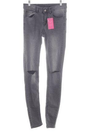 Vila Skinny Jeans dunkelgrau-grau sportlicher Stil