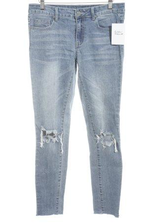 Vila Skinny Jeans kornblumenblau Jeans-Optik