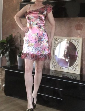 Vila Sukienka mini w kolorze różowego złota-biały