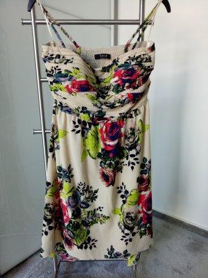 Vila Sommerkleid mit Korsage und kleiner Schleppe