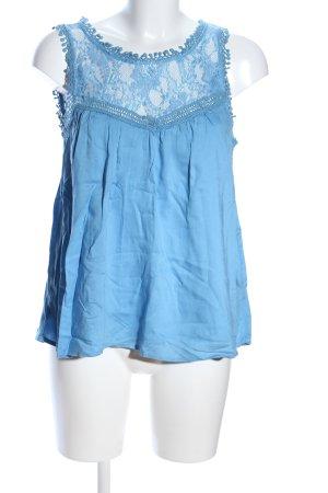 Vila Spitzenbluse blau Casual-Look