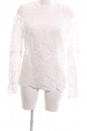 Vila Lace Blouse white flower pattern casual look