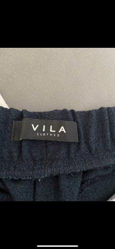 Vila Pantalon taille basse bleu foncé