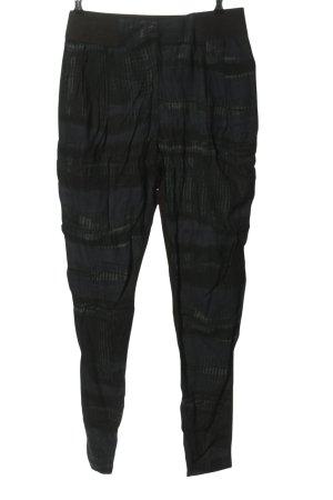 Vila Stoffhose blau-schwarz abstraktes Muster Casual-Look