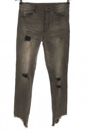 Vila Stretch Jeans light grey casual look