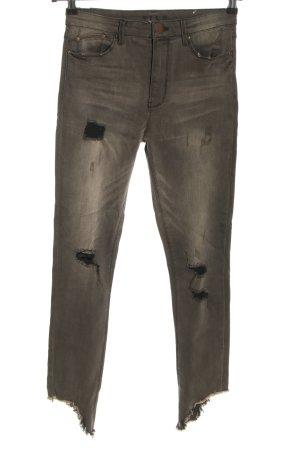 Vila Jeans stretch gris clair style décontracté