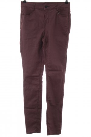 Vila Stretchhose brombeerrot Casual-Look