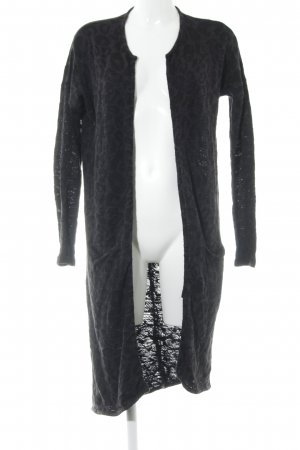 Vila Knitted Cardigan black-anthracite leopard pattern casual look