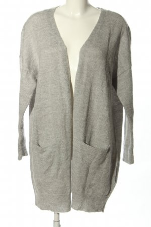Vila Knitted Coat light grey flecked casual look