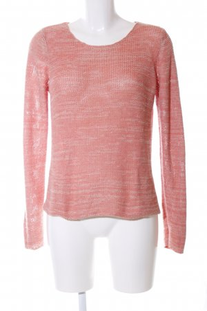 Vila Strickpullover rot-nude Zopfmuster Casual-Look