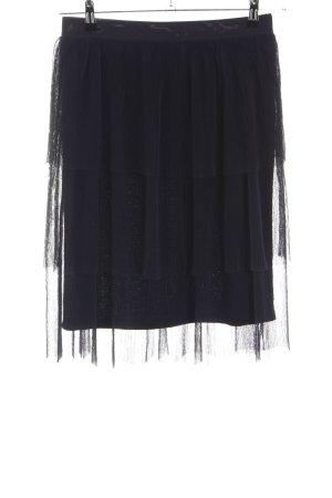 Vila Broomstick Skirt black elegant