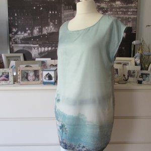 VILA * %Summer Sale% Edles Long Shirt oversized * mint grün-grau Fotoprint * XL