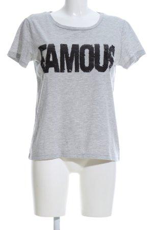Vila T-Shirt hellgrau-schwarz meliert Casual-Look