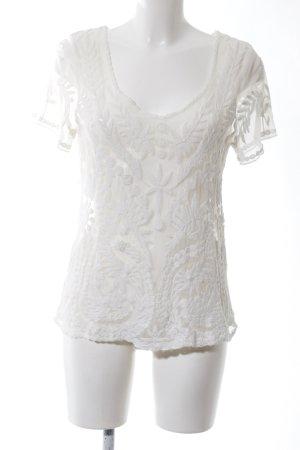 Vila T-Shirt weiß Blumenmuster Elegant