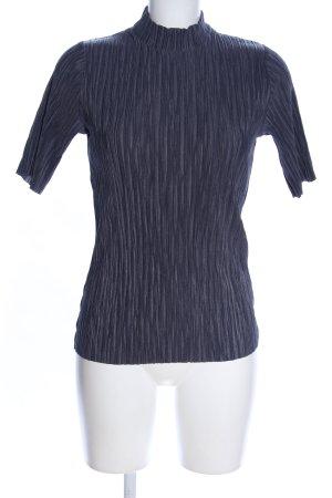 Vila T-Shirt blau Allover-Druck Casual-Look