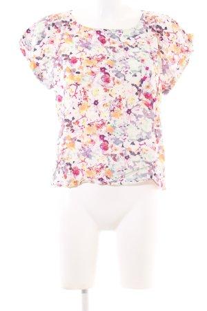 Vila T-Shirt Blumenmuster Casual-Look