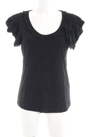 Vila T-Shirt schwarz Casual-Look