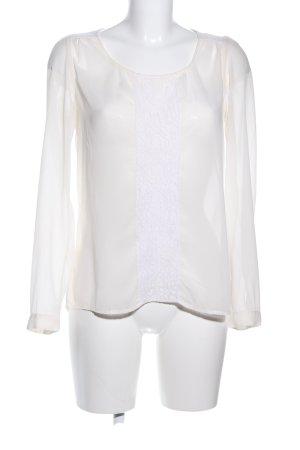 Vila Transparenz-Bluse creme-weiß Business-Look