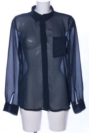 Vila Transparenz-Bluse blau Allover-Druck Casual-Look